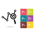 Analytics icon or business analysis symbol vector image vector image