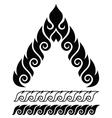 Thai art pattern retro traditional design vector image