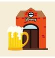 Beer design brewery icon beverage concept vector image