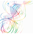 Abstract background with rainbow curved lines vector image