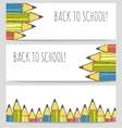 Back to school colorful banners set vector image