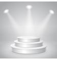 Blank white empty musical concert podium vector image