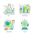 Business Elements Linear Compositions vector image