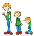 little boy grow vector image