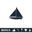 Sailing boat icon flat vector image