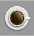 cup of coffee above vector image vector image