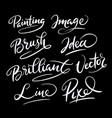 brilliant idea hand written typography vector image vector image
