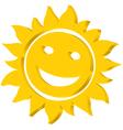 Sun iccon vector image vector image