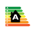 Houses efficiency label vector image vector image