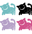 grunge cats vector image vector image