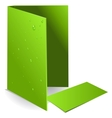 Background green visit card and document case with vector image