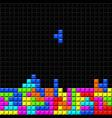 brick retro game vector image