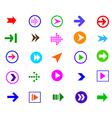 colorful arrow vector image