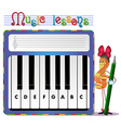 musical tasks vector image