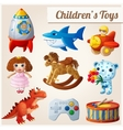 Set of kids toys Part 2 vector image