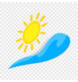 sun and wave isometric icon vector image