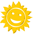 Sun iccon vector image