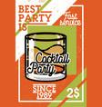 color vintage coctail party banner vector image