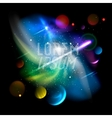 Space backgroundplanet and bright stars in cosmos vector image vector image