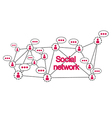 Social networking conceptual vector image