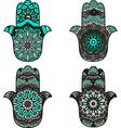 Turquois Hamsa vector image