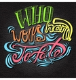 lettering Multicolored letters on a grey vector image