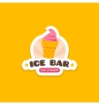 ice cream logo template Sweets cafe label vector image