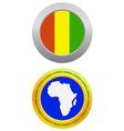button as a symbol GUINEA vector image