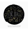 concept of big idea vector image