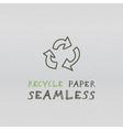 Recycle paper seamless vector image
