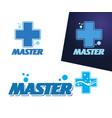 set logo - text master vector image