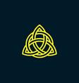 triquetra trinity knot celtic symbol vector image
