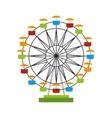 wheel ferris fair attraction icon vector image