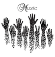 A creative musical background made vector image vector image