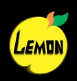 logo lemon leave black background vector image