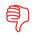 Thumbs down vector image