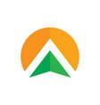 abstract circle arrow business logo vector image