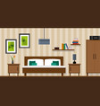 bedroom interior - flat style vector image