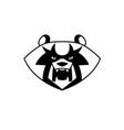 panda bear head vector image