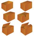 brown cardboard shipping box vector image vector image