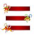 christmas ribbon vector image vector image