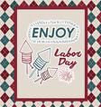 Retro Labor day design vector image