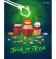 Set of colorful halloween sweets and candies icons vector image