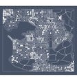 Abstract city plan vector image