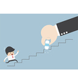 Business rival concept Businessman hand holding e vector image