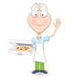 Delicious pizza vector image