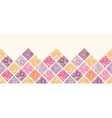 Floral mosaic tiles horizontal seamless pattern vector image