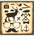 Hipster style infographics elements for retro vector image