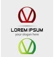 Letter v logo icon design template elements vector image