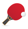 racket and ball for table tennis ping pong vector image
